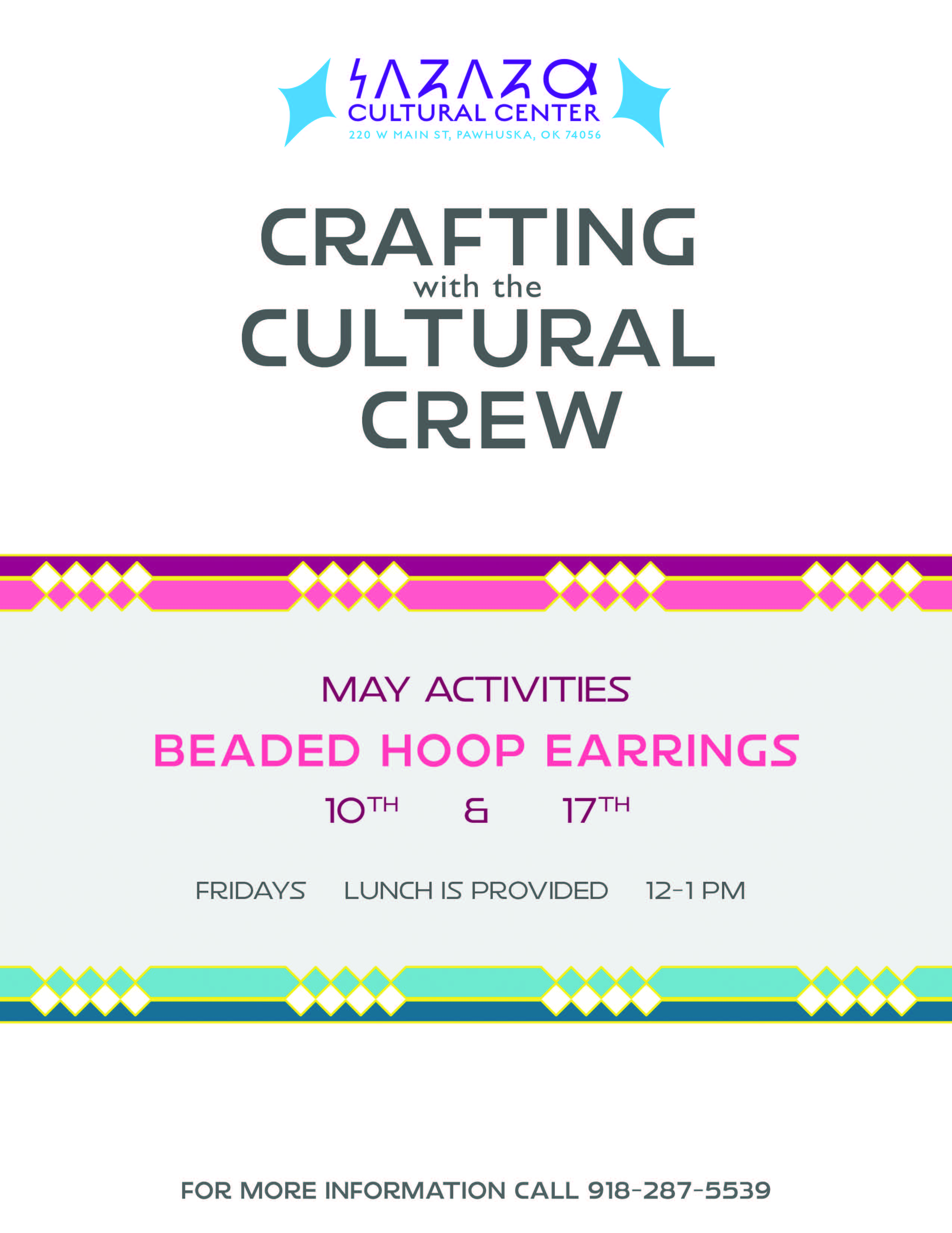 May Crafting with the Cultural Crew