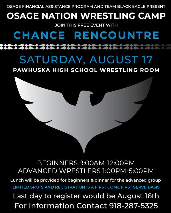 Osage Nation Wrestling Camp Flyer