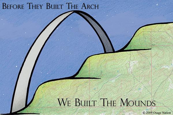 Sugarloaf mound illustration