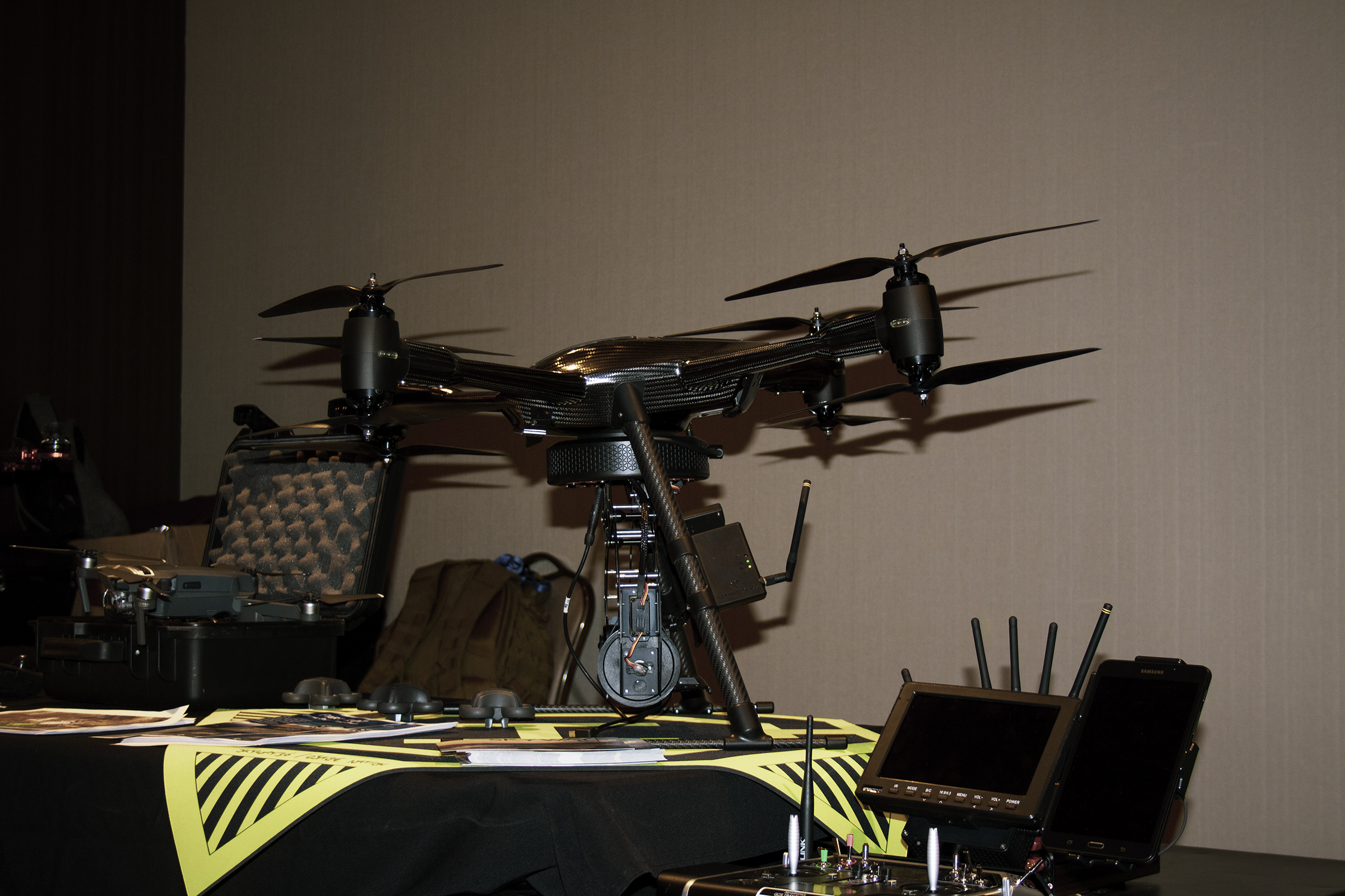 drone conference picture showing Osage Nation's Skyway36 project drones