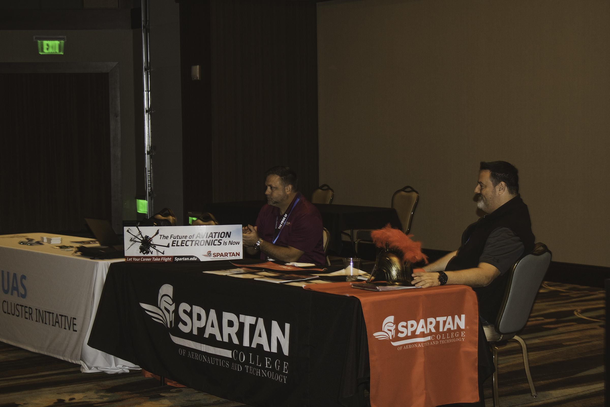 drone conference picture showing Spartan School of Aeronautics