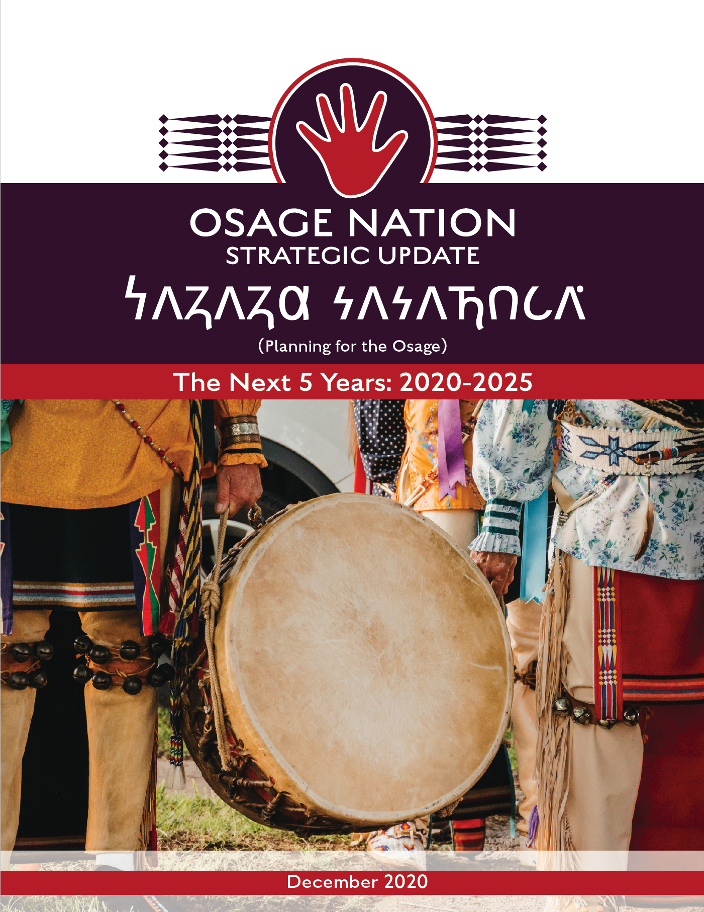 front cover of the December 2020 update to the 25-year strategic plan for Osage Nation