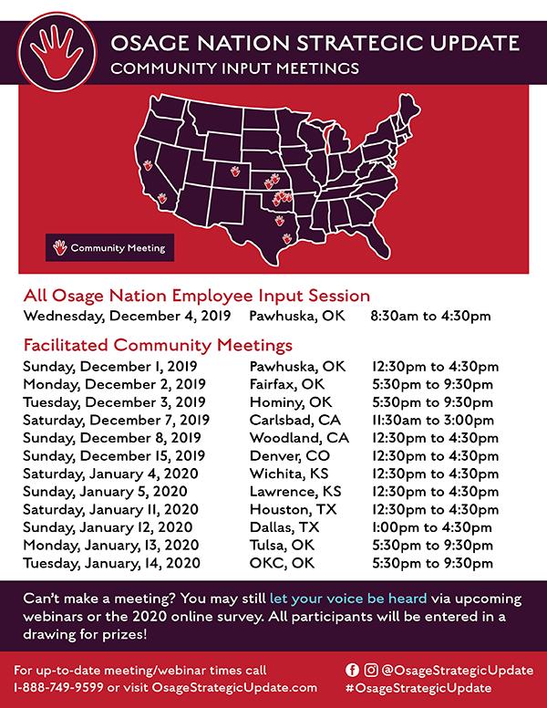 Osage Strategic Update Schedule