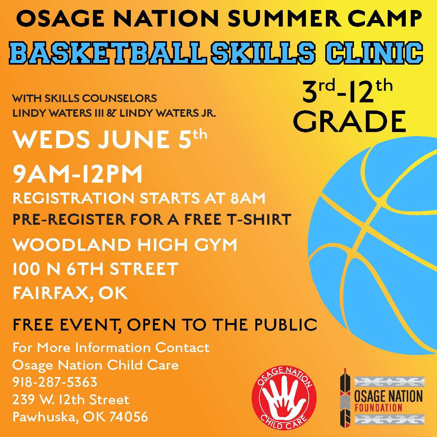 Basketball Camp flyer