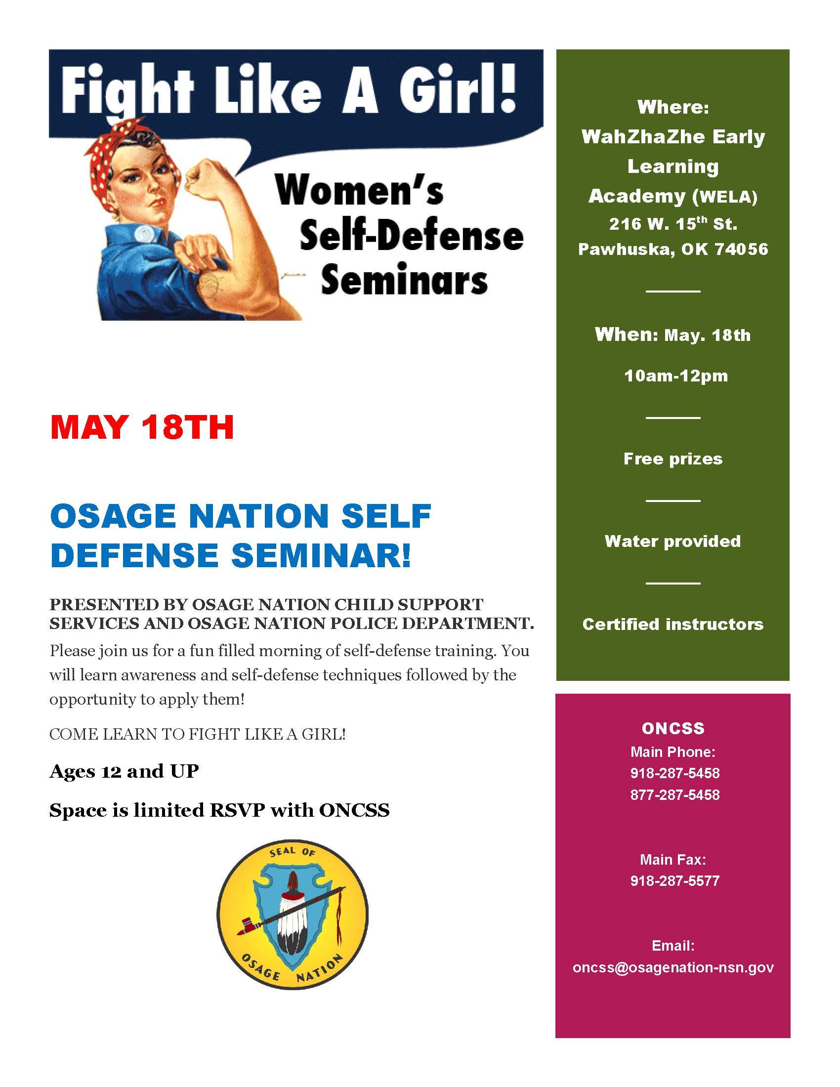 Self Defense Seminar Flyer