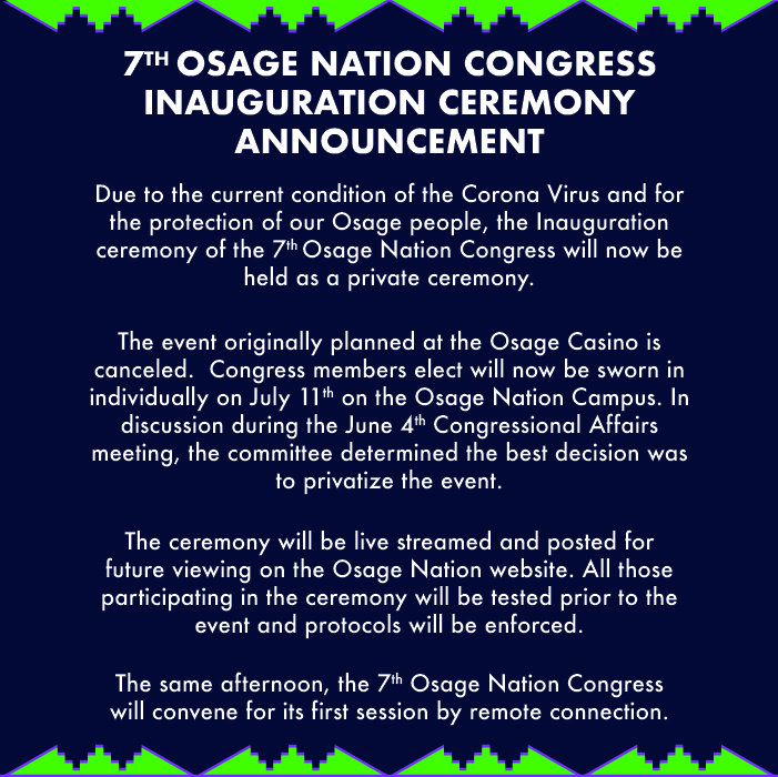 7th ON Congress inauguration flyer