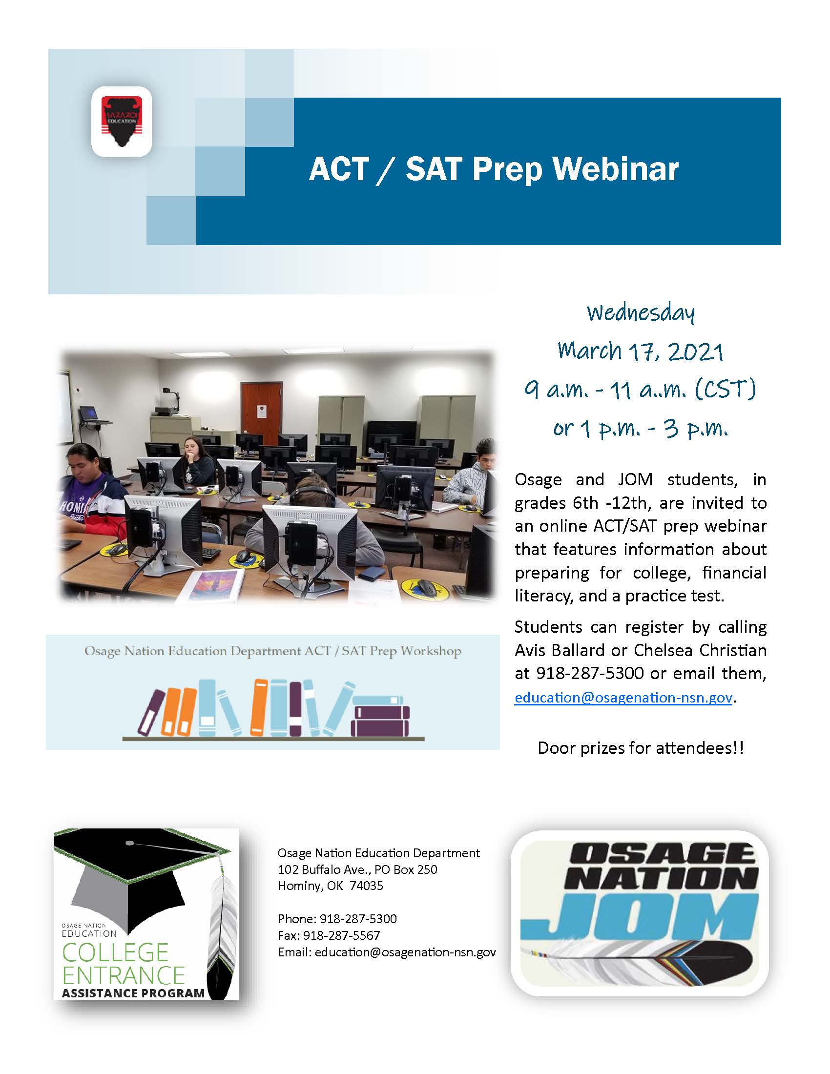 2021 ACT/SAT college prep webinar