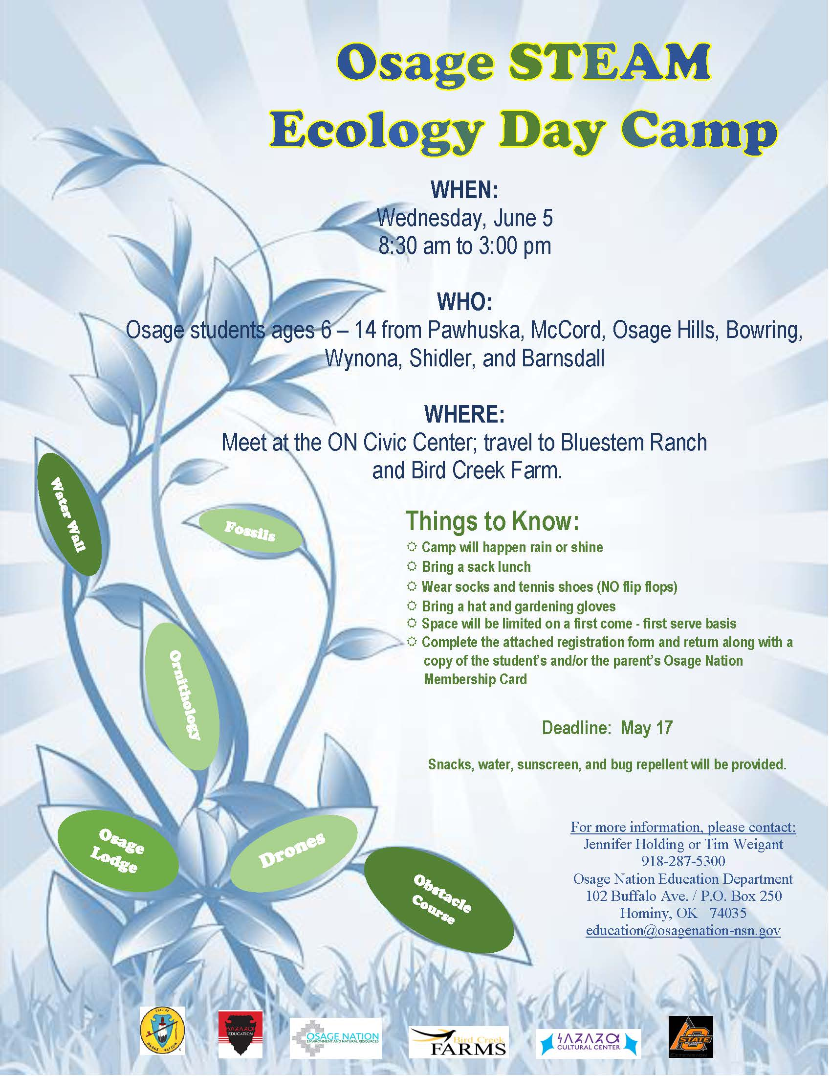 Osage STEAM Ecology Camp