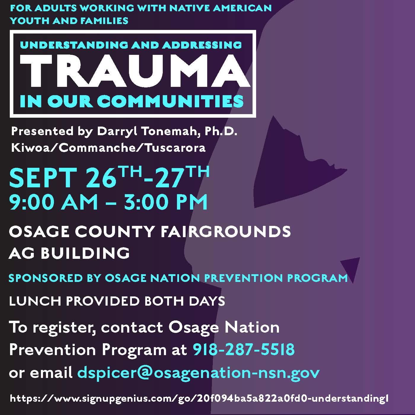 trauma flyer