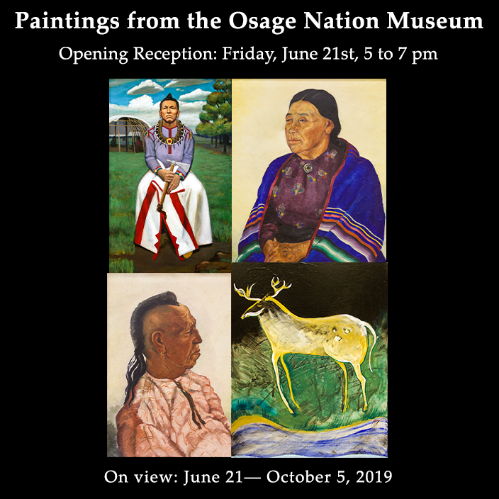 Osage Nation Museum Paintings Exhibit 2019