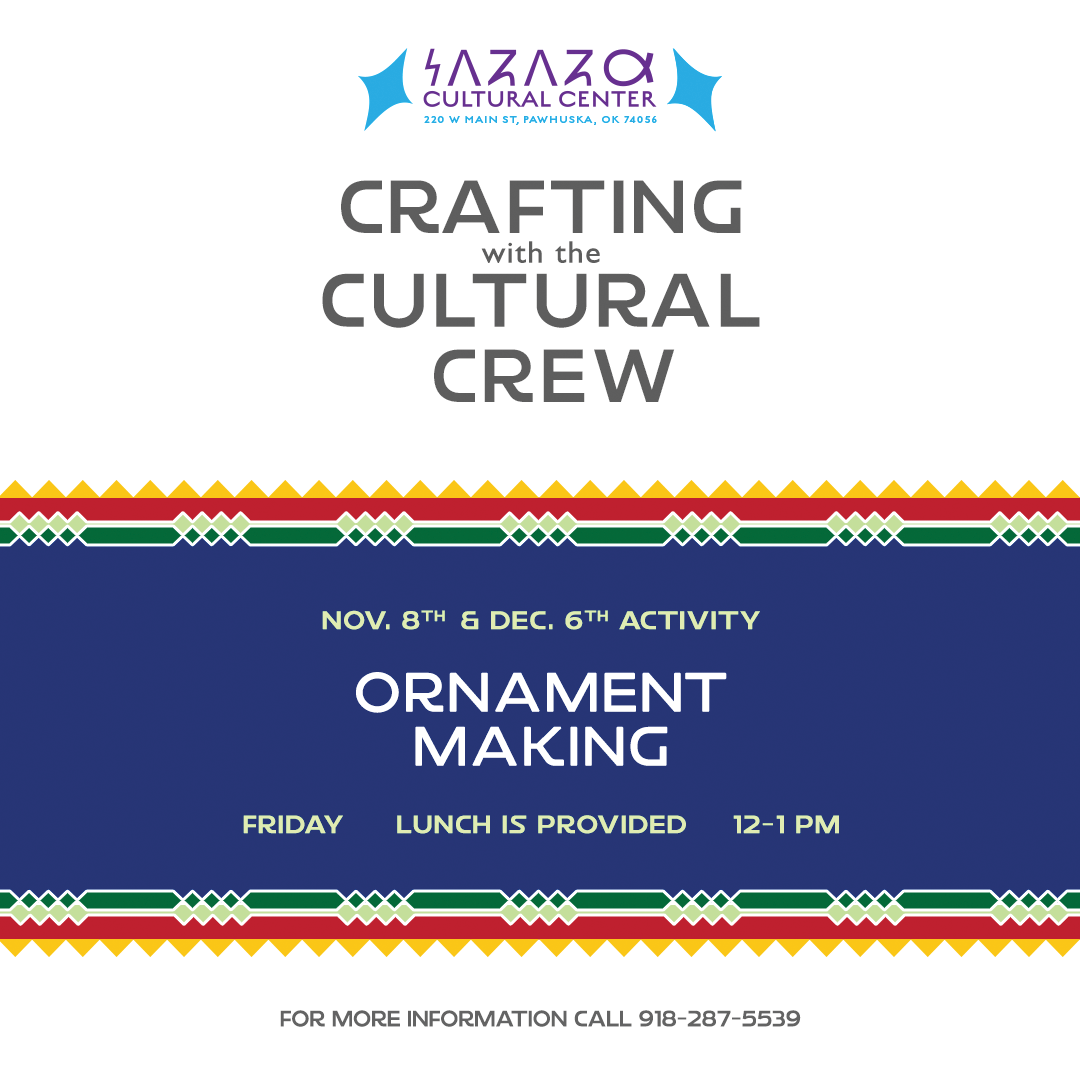 Crafting with the Cultural Crew flyer