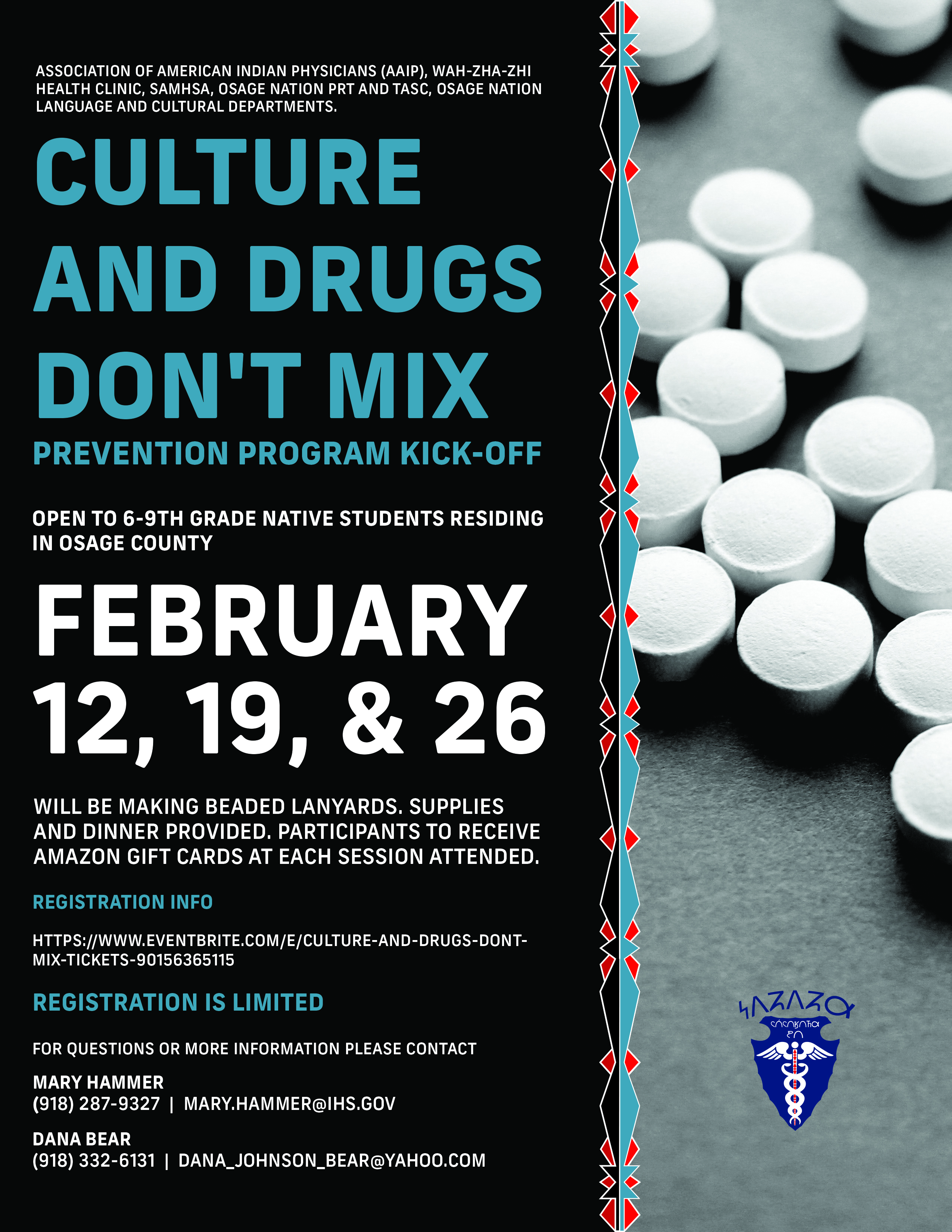 Culture and Drugs Don't Mix flyer