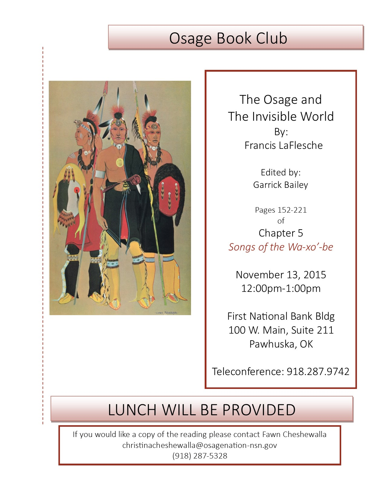 Osage Book Club Flyer