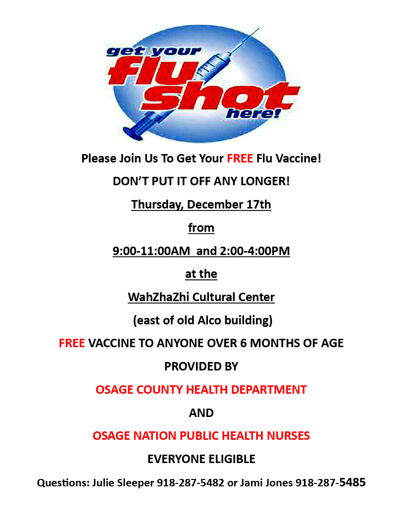 Free Flu Shot Flyer