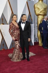 Chrissy Teigen and John Legend - Oscars Red Carpet Arrivals