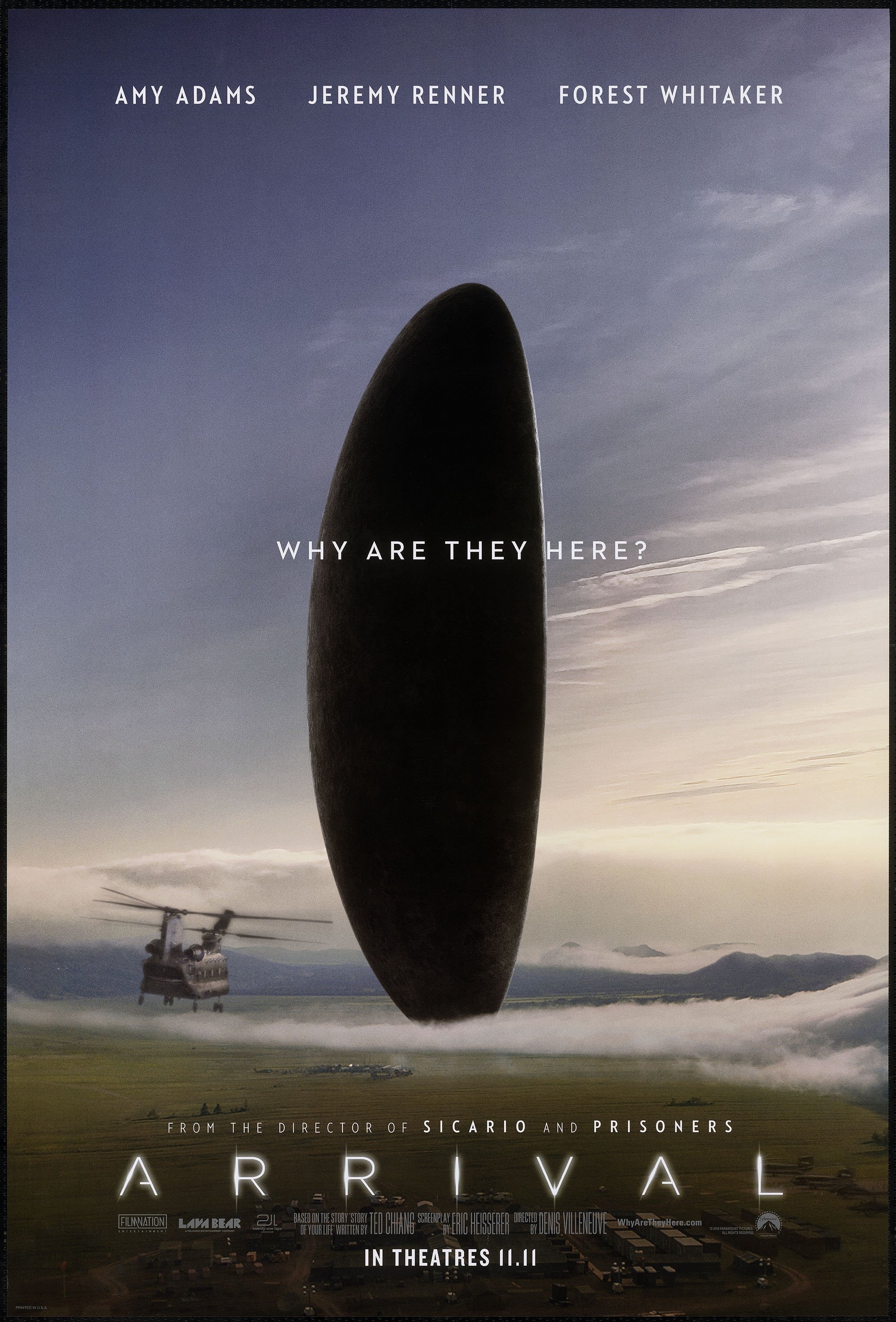 Arrival Best Picture Oscar Nominees 2017