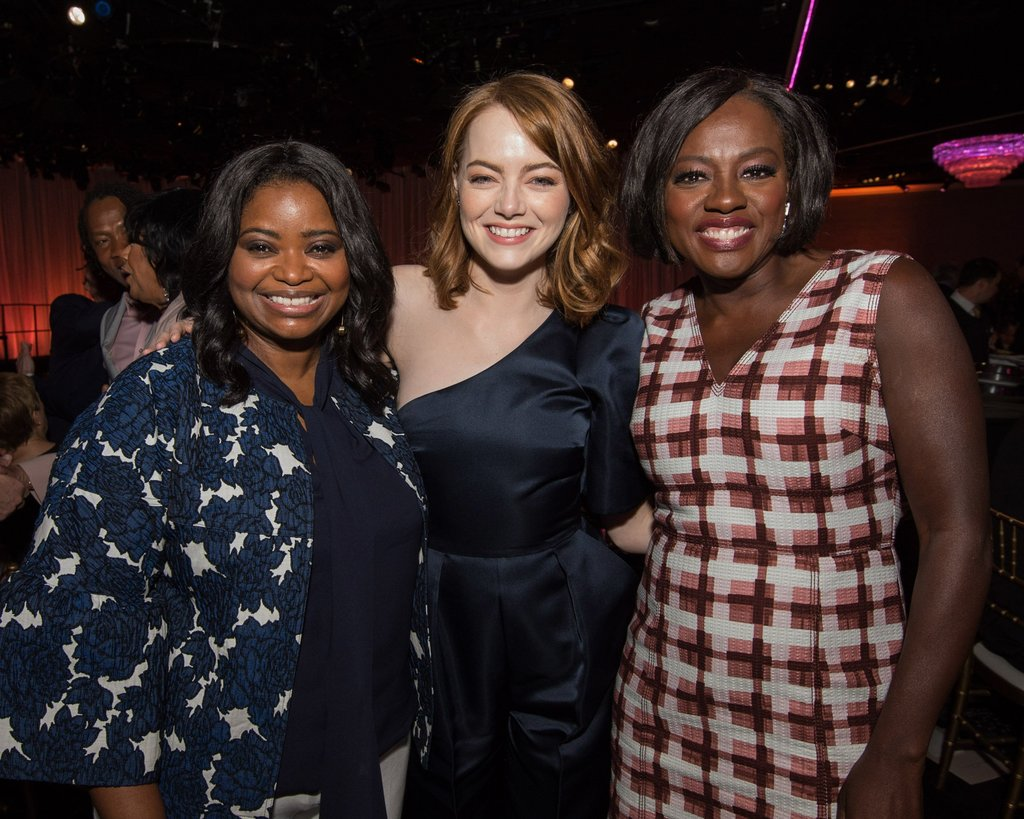 Octavia Spencer Emma Stone And Viola Davis 2017 Oscars