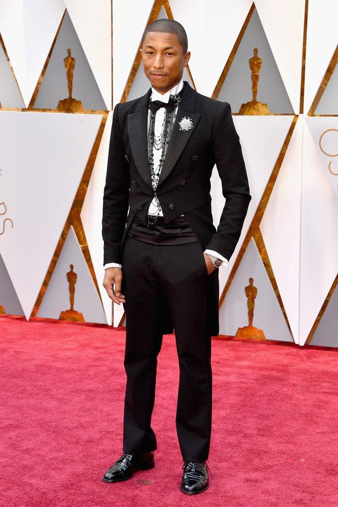 Pharrell Williams Oscar 2017 Red Carpet Arrival: Oscars ...