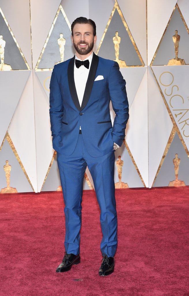 Chris Evans Oscar 2017 Red Carpet Arrival: Oscars Red ...