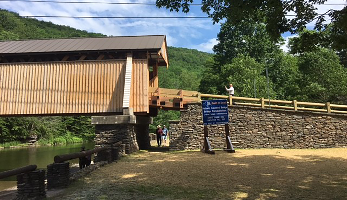 The Beaverkill Covered Bridge was built in 1865 and is listed on the National Register of Historic Places. New York State was once home to more than 250 covered bridges. Today, only 31 remain.