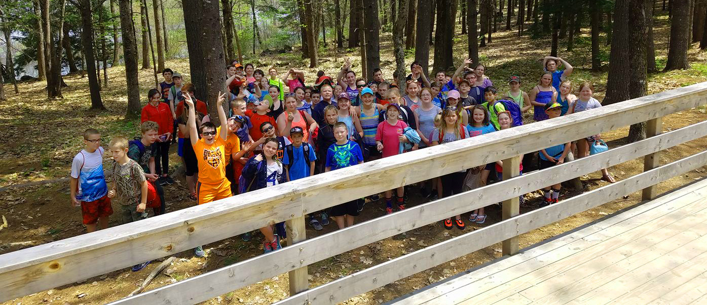 """Students come from around the region to take part. You can see their eyes light up when they see and interact with nature, water, and trees."" - Matt Polstein, New England Outdoor Center."