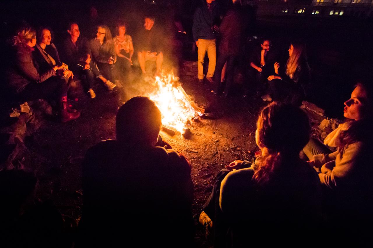 Campfire near the Delaware River