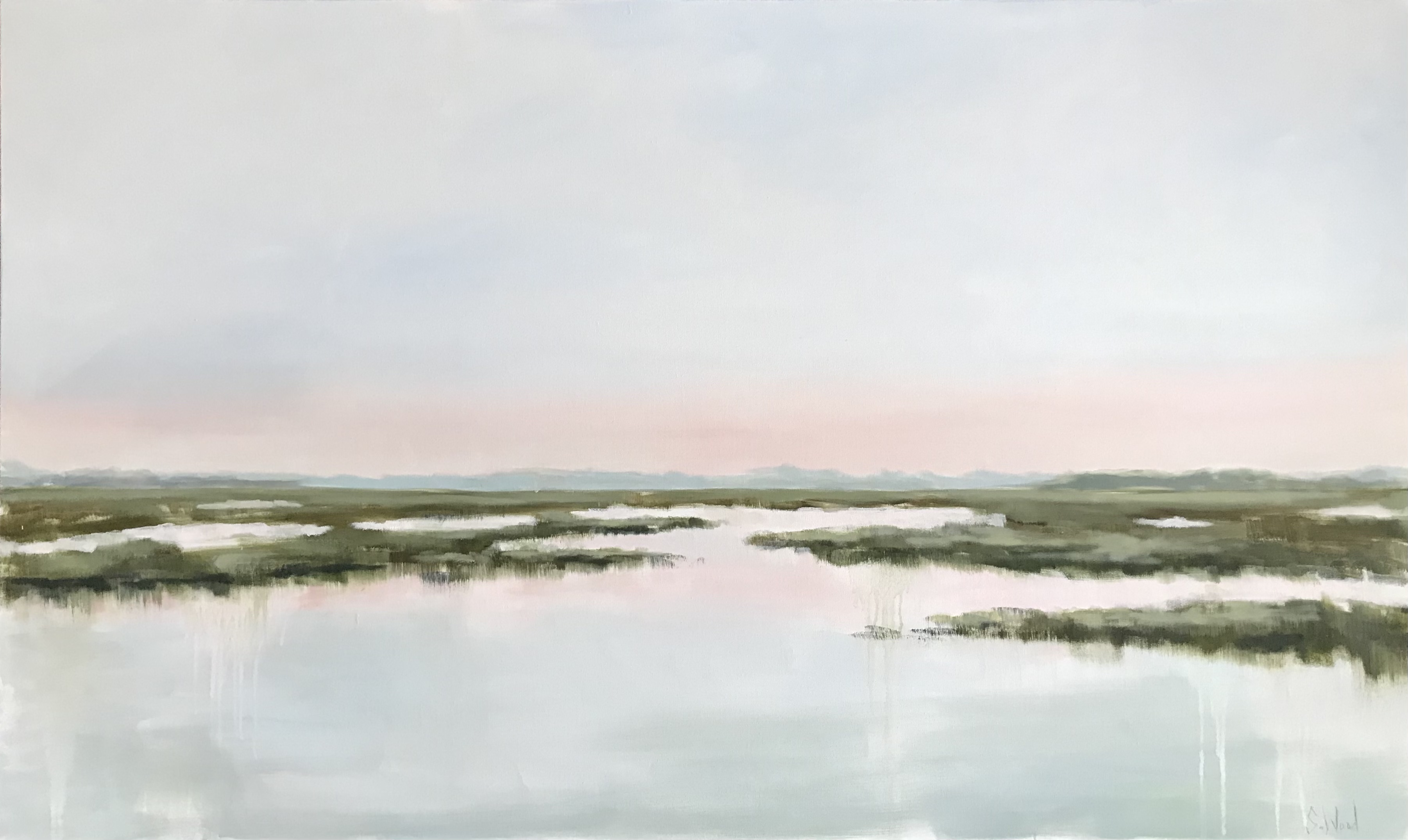 """""""Enamored"""" by Shannon Wood. Dimensions: 60 x 36. $3800"""