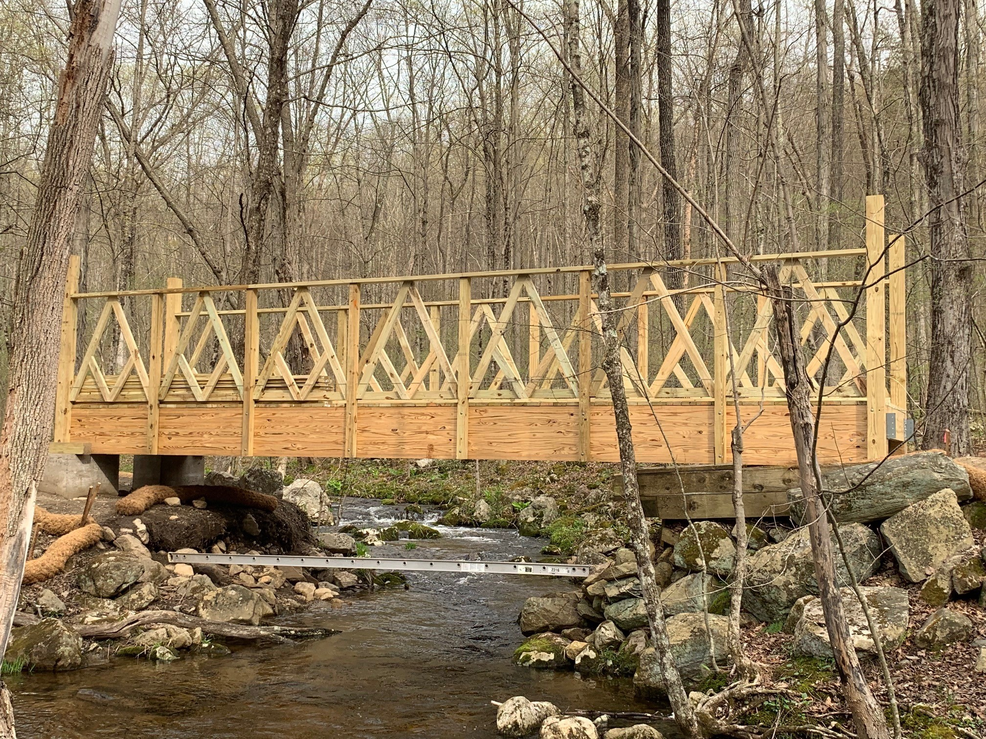 The bridge constructed by the West Point cadets.