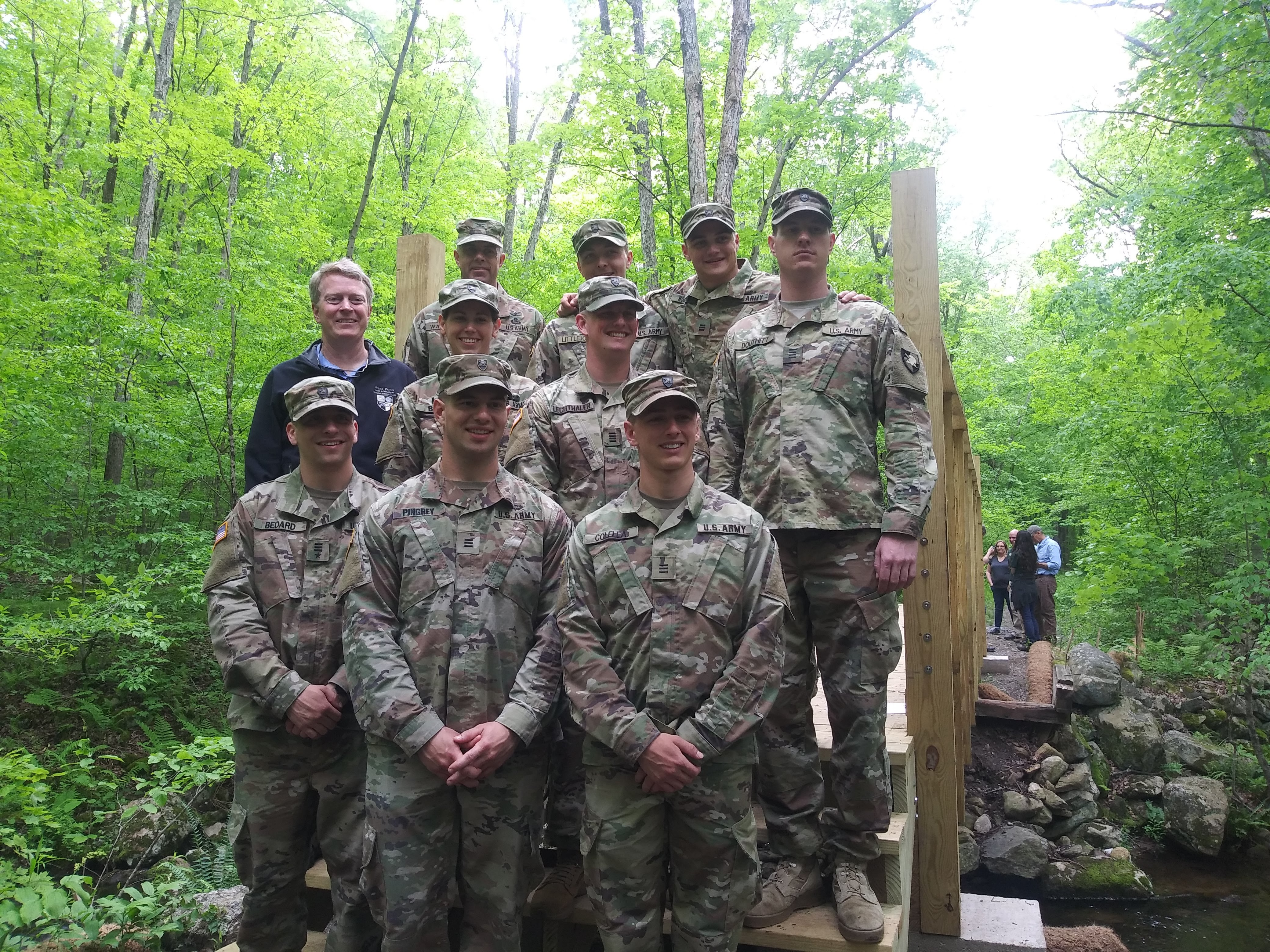 For the second year, OSI commissioned a class of West Point cadets to create a bridge at Fahnestock State Park.