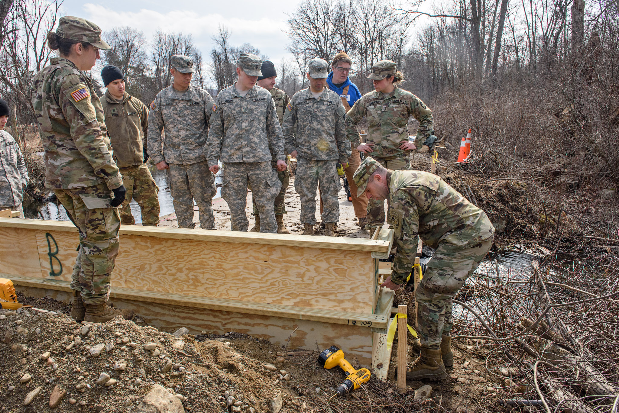 The Open Space Institute  has partnered with cadets from the United States Military Academy (USMA) at West Point and the New York State Office of Parks, Recreation, and Historic Preservation (OPRHP) to replace an unreliable steel plate bridge on the School Mountain Road trail in the Hubbard Lodge area of Clarence Fahnestock Memorial State Park.