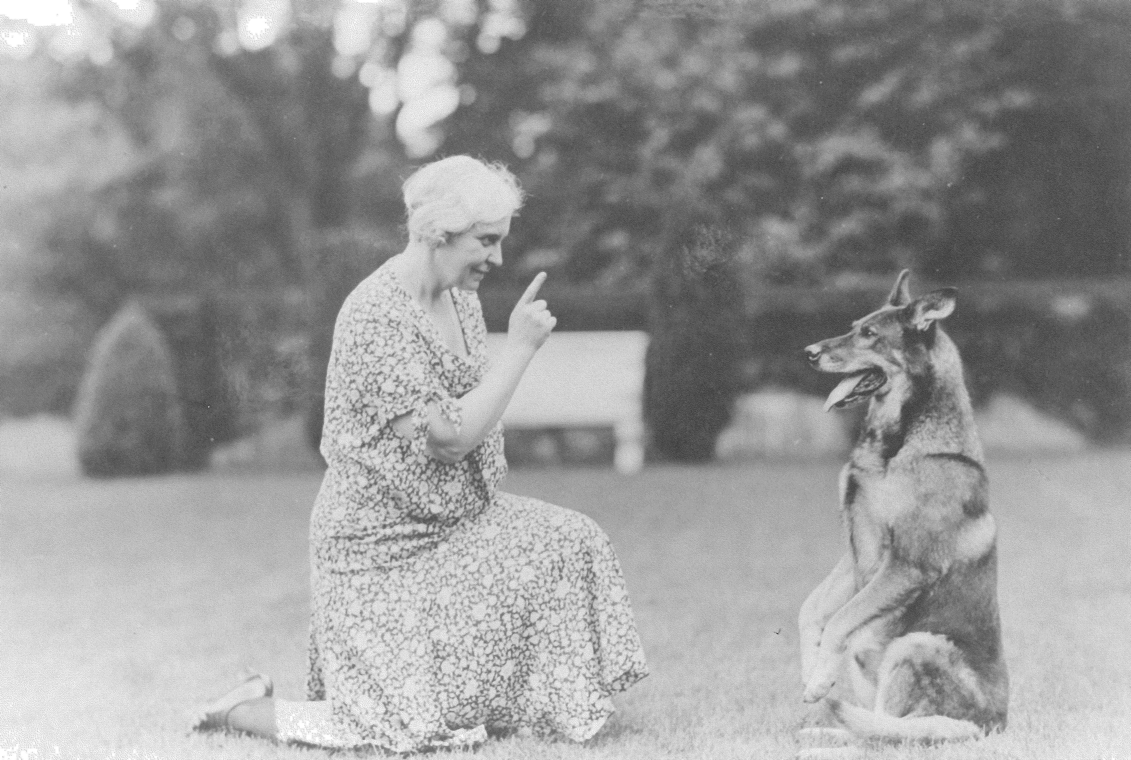 Geraldine Dodge with Rin Tin Tin