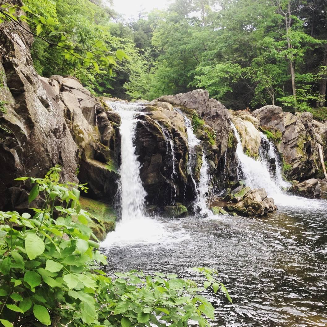 Falls at Hannacroix Creek.