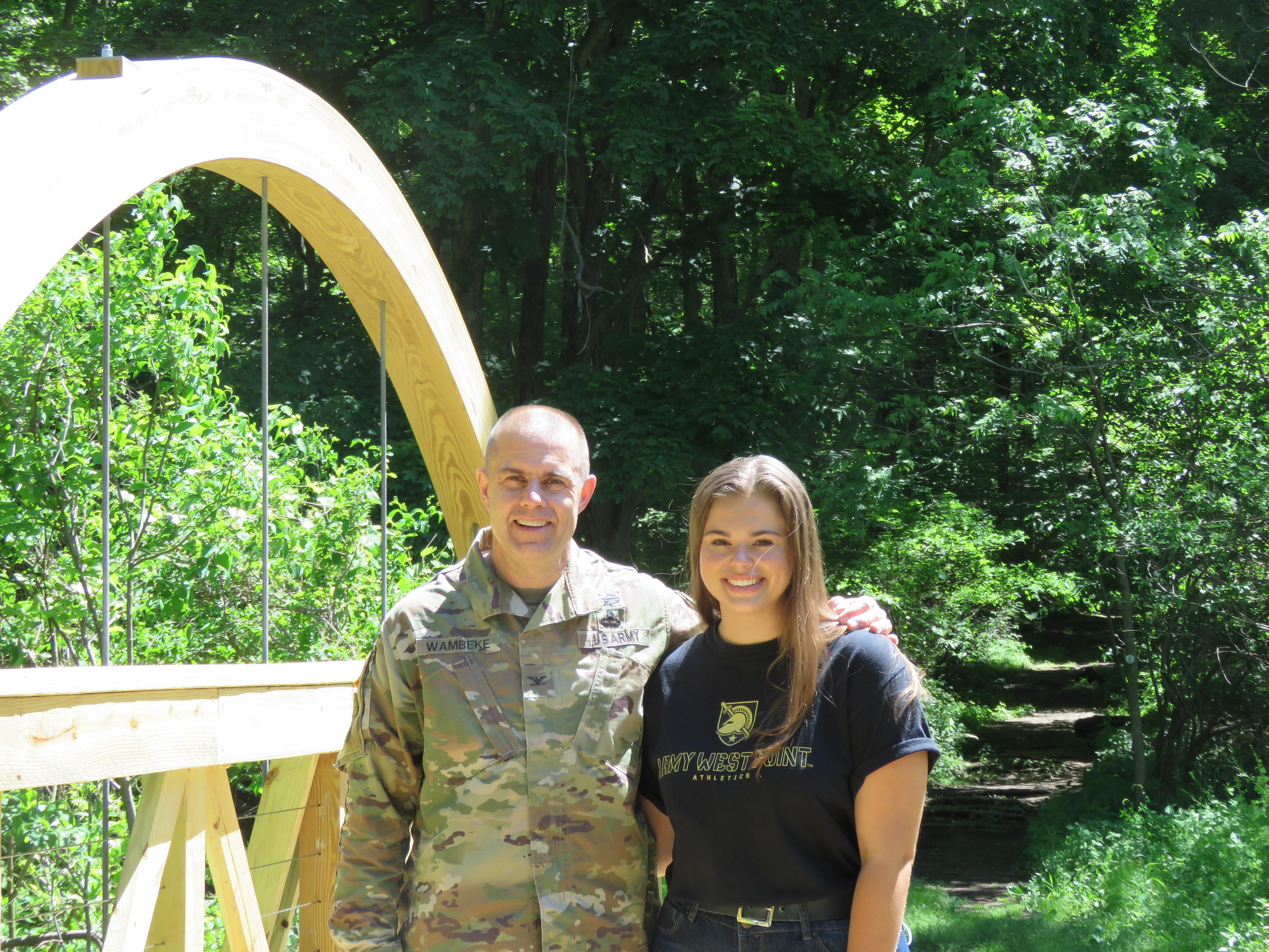 Colonel Brad Wambeke and Emilie Wambeke
