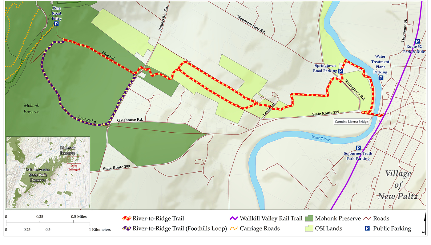 The River-to-Ridge Trail will run from New Paltz to the top of the Shawangunk Ridge.