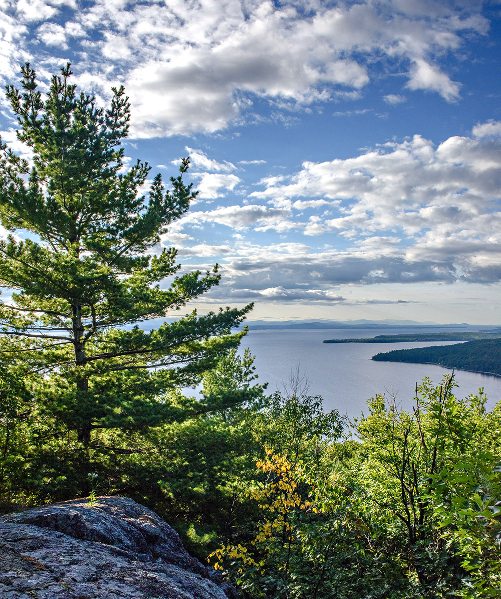 View of Lake Champlain from Mt. Trembleu