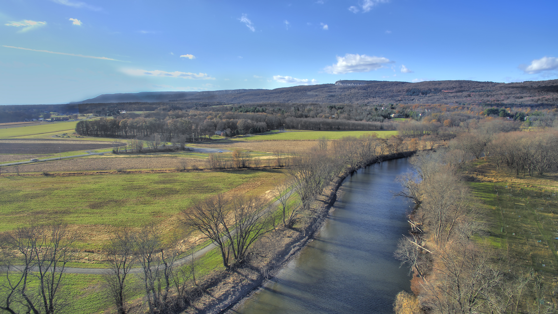Aerial footage of the River section of the River-to-Ridge Trail