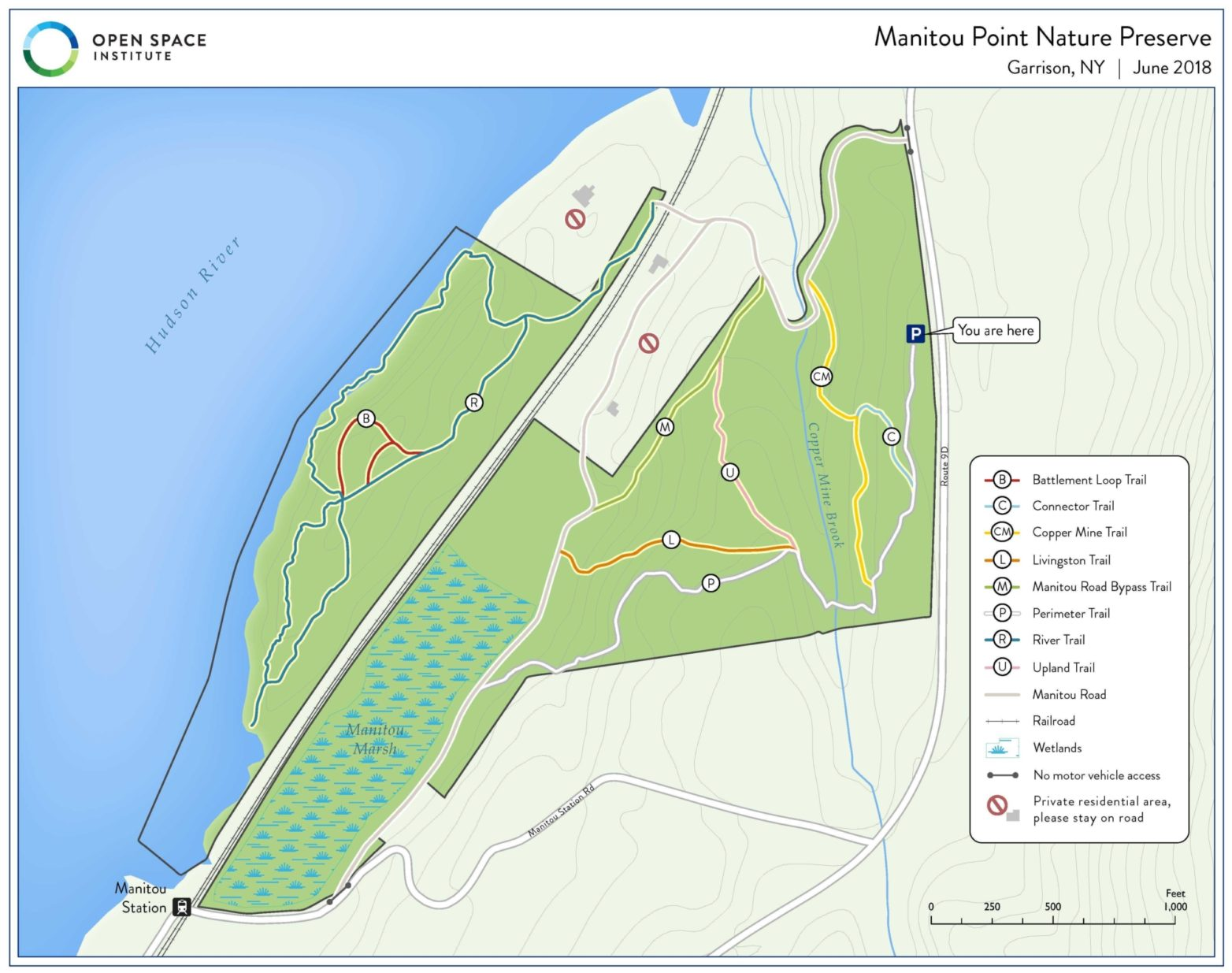 Trail and Access Upgrades at Manitou Point Preserve - Open