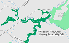 Whites & Piney Creek Property Protected with OSI's Support