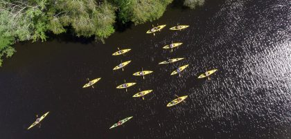 Kayaks on the Black River