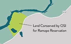 Map of Land Conserved by OSI for Ramapo Valley County Reservation
