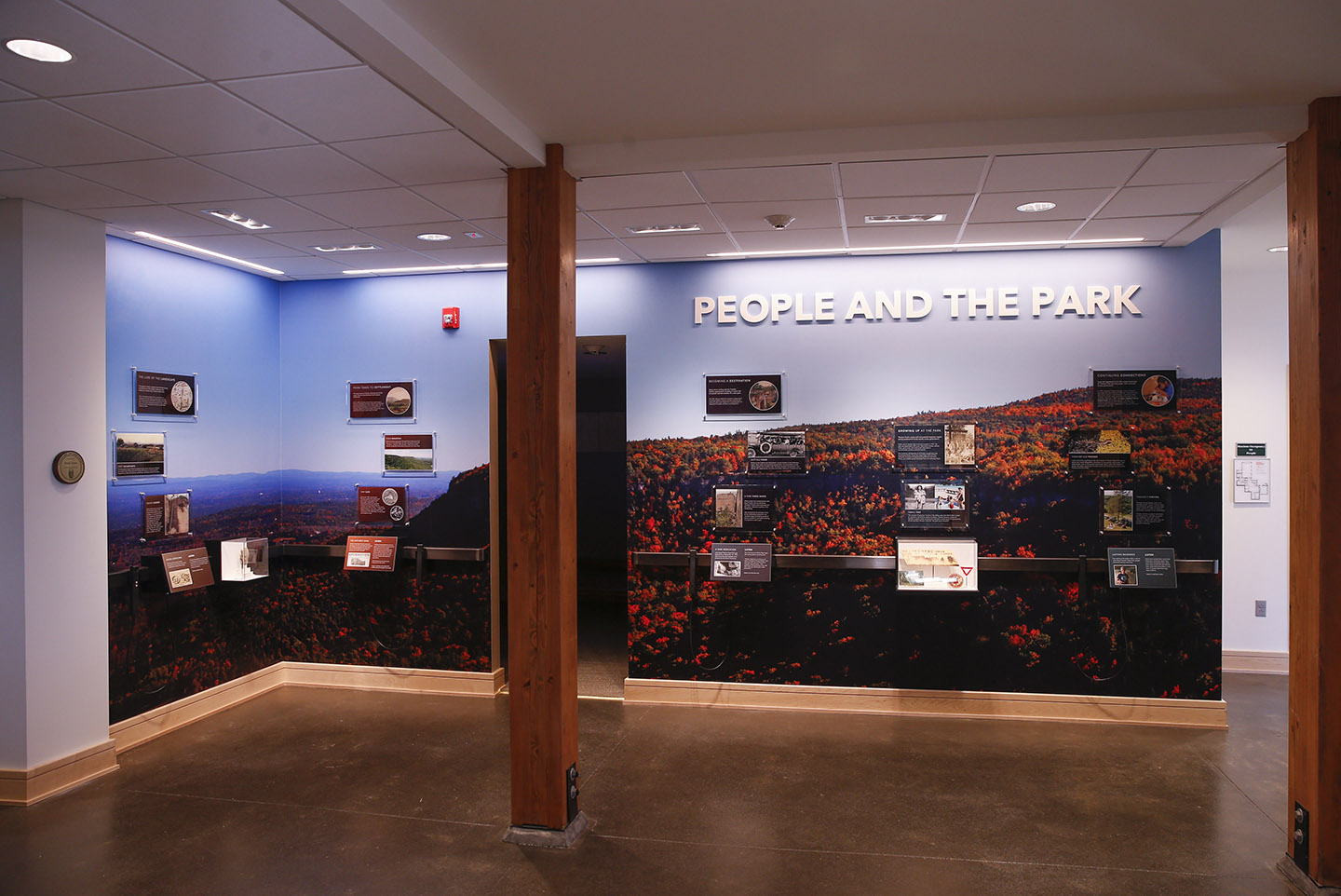 People and the Park exhibit highlighting the more recent, human history of the park.