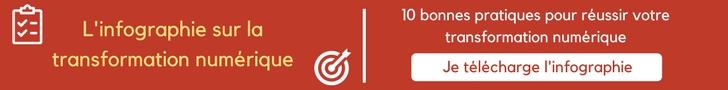 Bouton d'action : L'infographie sur la transformation numérique, 10 bonnes pratiques pour réussir votre transformation numérique. Cliquer pour télécharger l'infographie