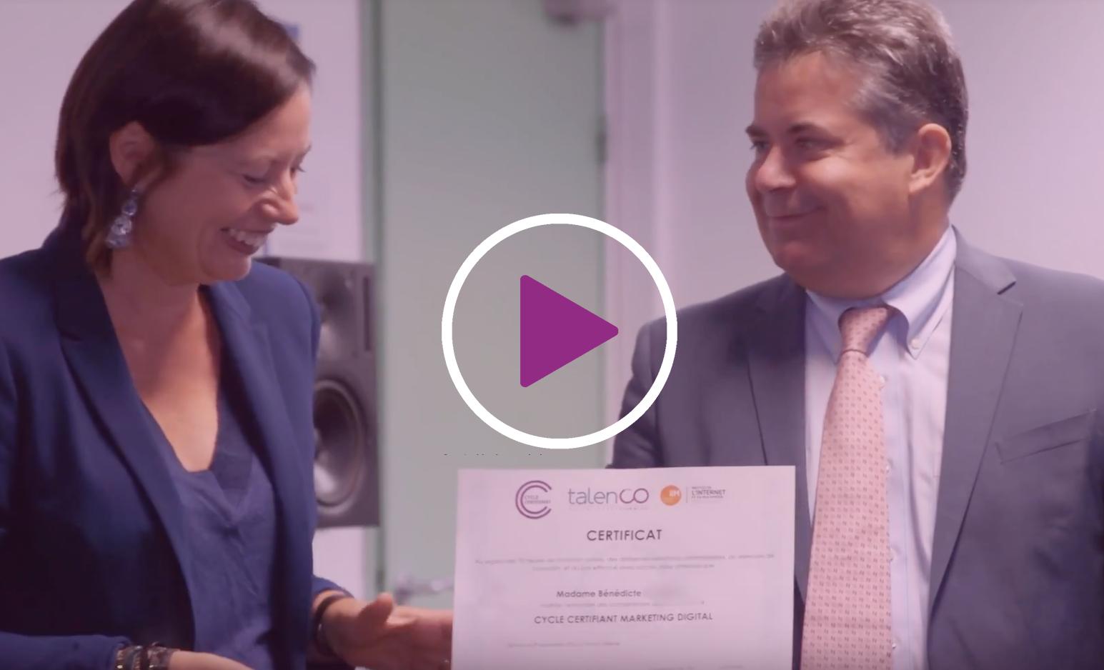 Visionnez la vidéo du Cycle Certifiant Responsable Marketing Digital