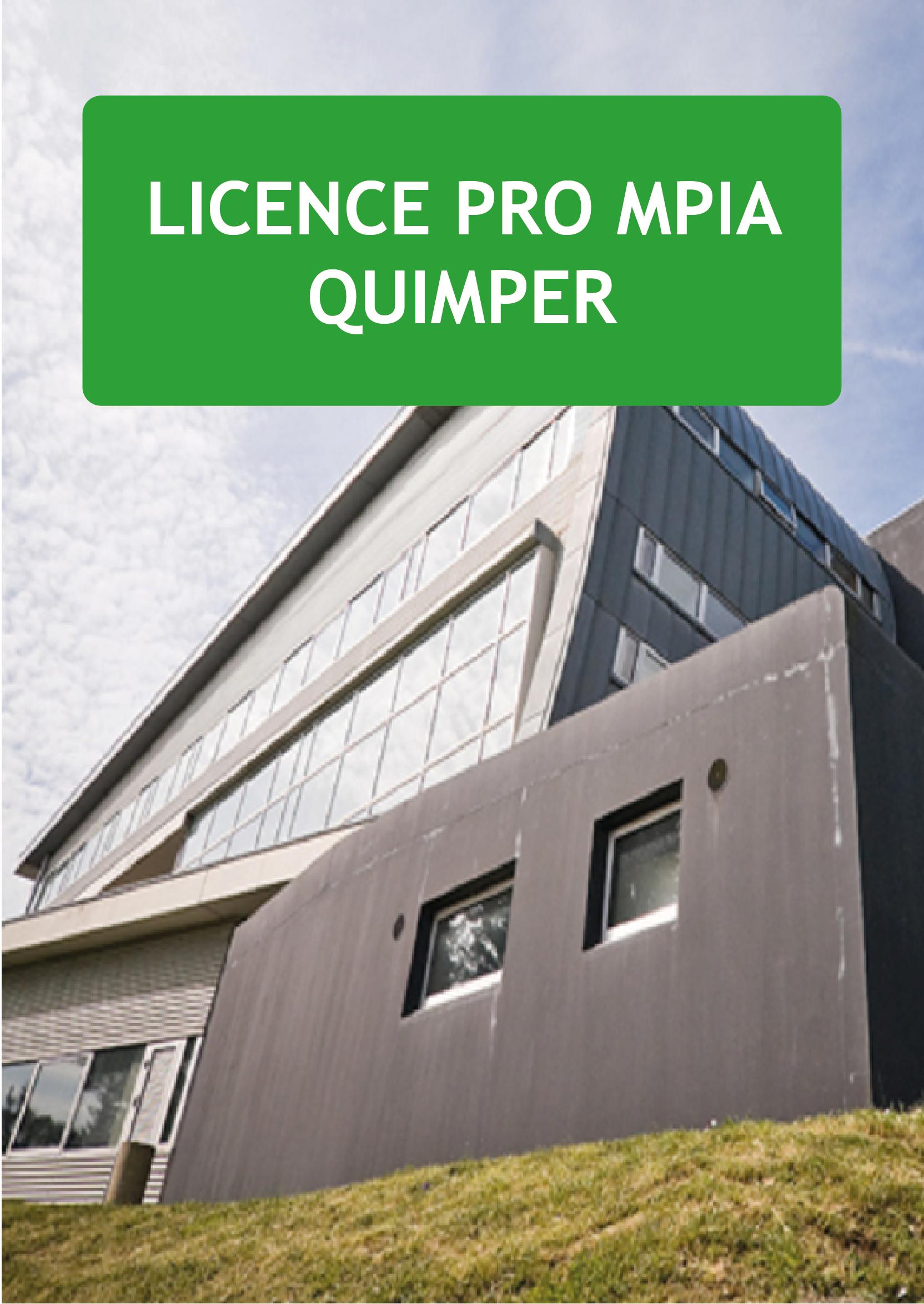 Plaquette Licence pro MPIA