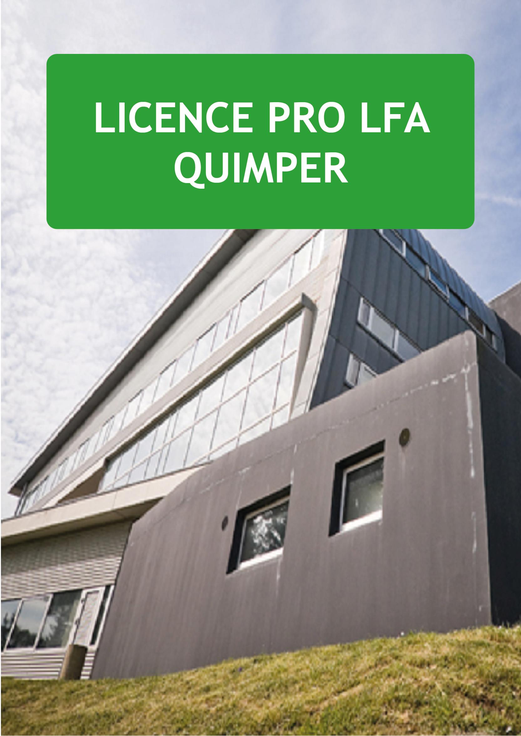 Plaquette Licence pro LFA