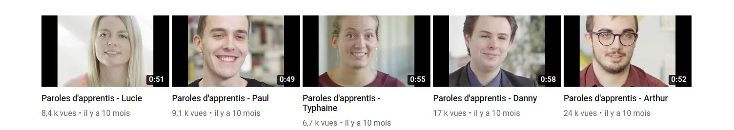 Lien Youtube vers Paroles d'apprentis