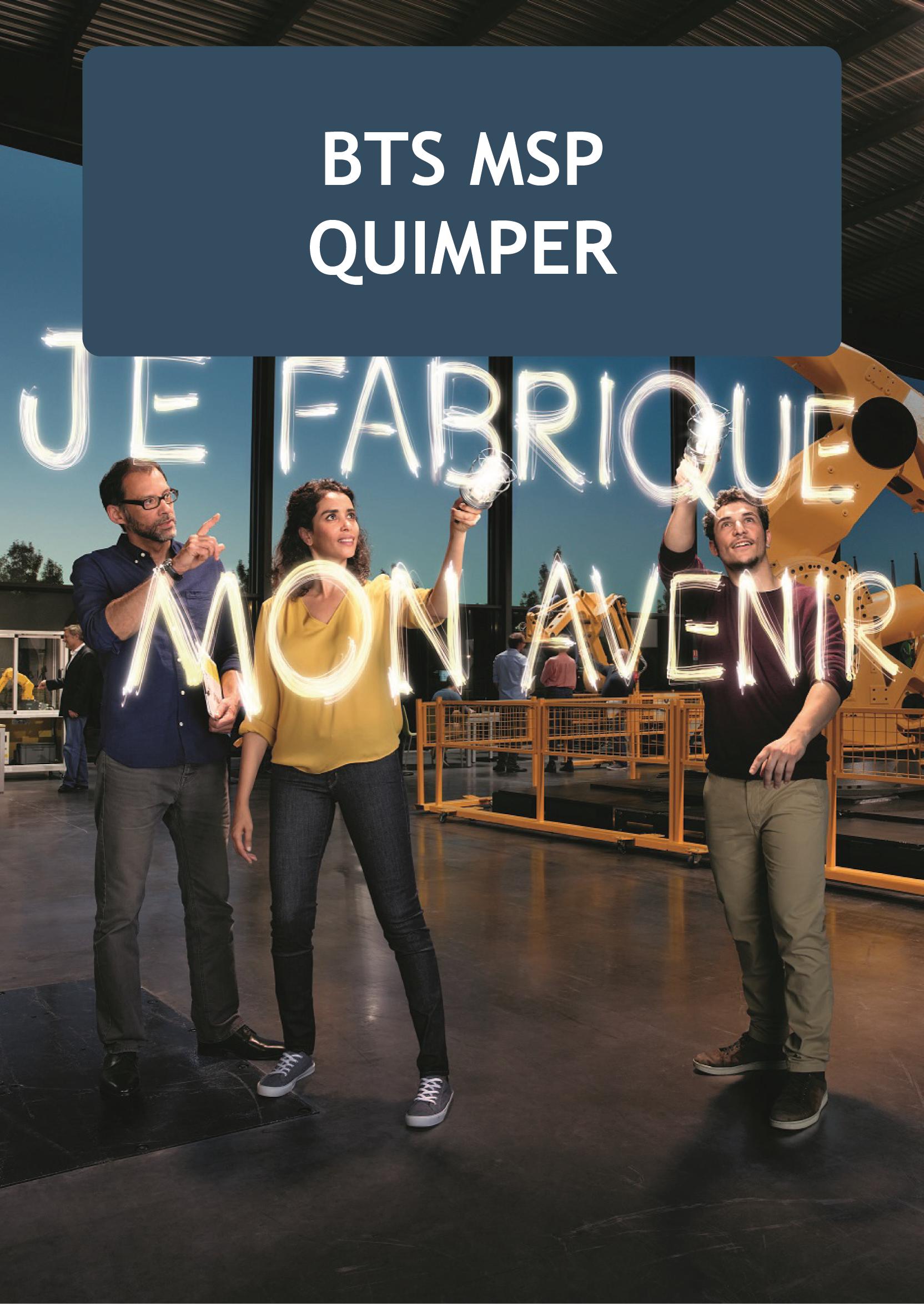 Plaquette BTS MSP Quimper