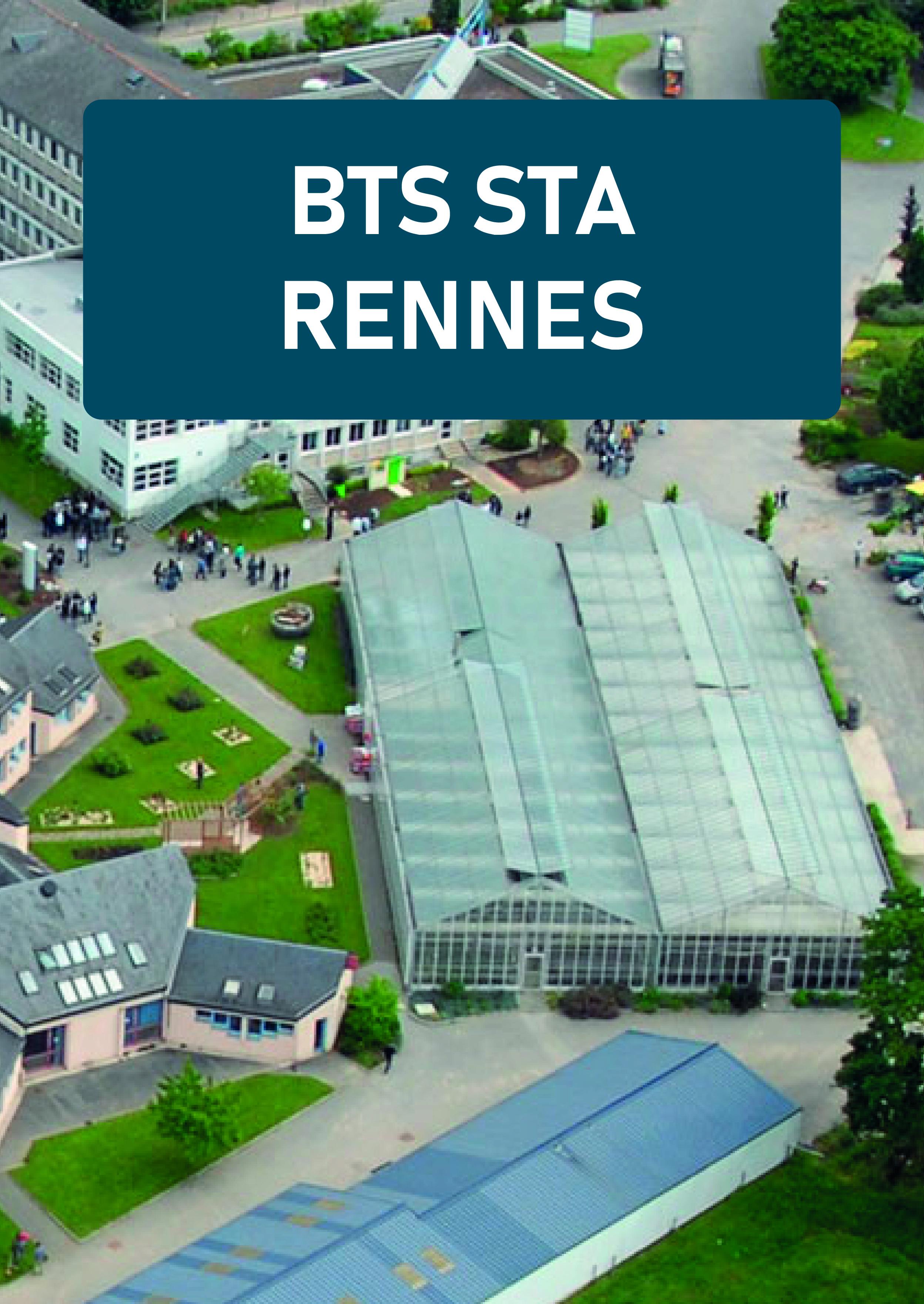 Plaquette BTS Science et Technologie des Aliments Rennes