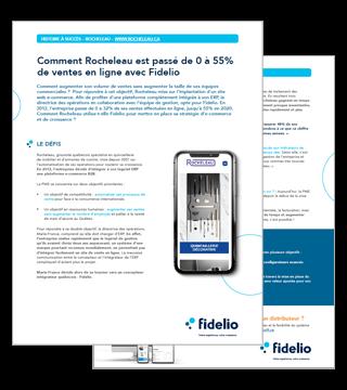 Comment Rocheleau est passé de 0 à 55% de ventes en ligne avec Fidelio