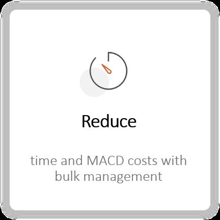 Reduce MACDs Tasks